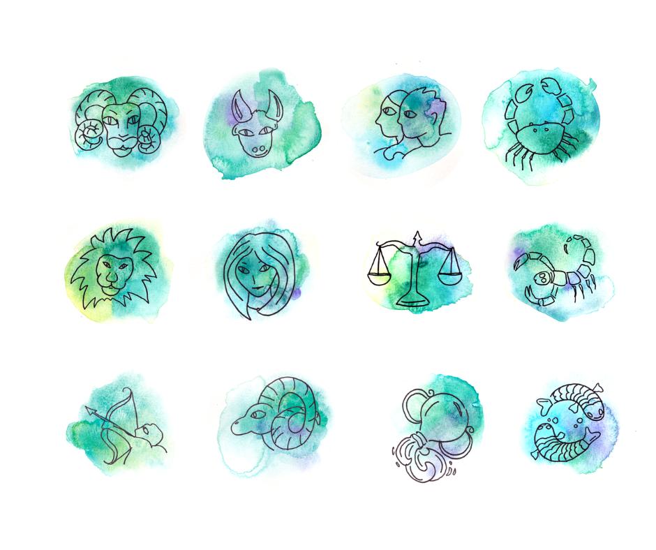 Les douze signes du zodiaque